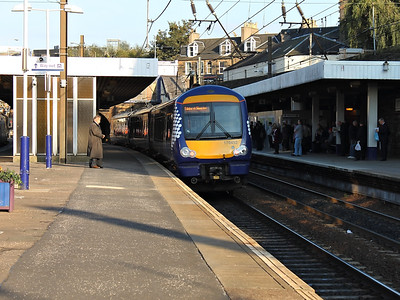 170452 stands at Haymarket on the 10th October 2012