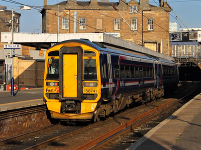158741 slows for Haymarket on the 10th October 2012
