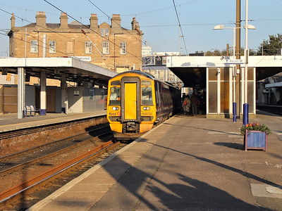158731 stands at Haymarket on the 10th October 2012