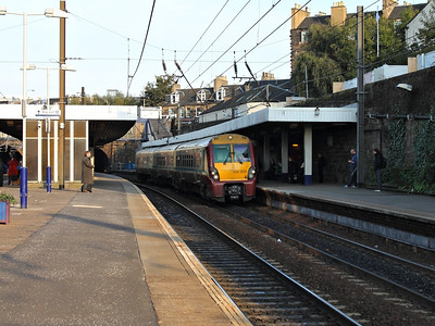 334008 stands at Haymarket on the 10th October 2012