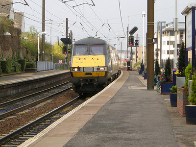 82211 leads an East Coast service into Haymarket on the 18th October 2010