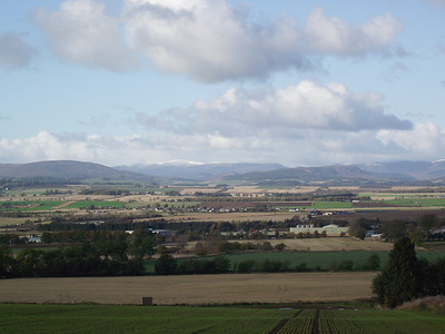 Snow on hills behind Forfar on the 23rd October 2010