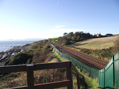 The vantage point at Linton Court, near Kinghorn, on the 25th October 2010