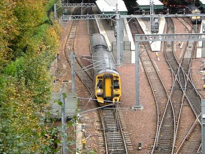 158707 leaves Edinburgh Waverley on the 18th October 2010