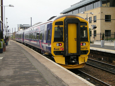 158731 heads for Fife and away from Haymarket on the 18th October 2010