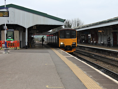 150128 stands at Westbury on the 16th March 2012