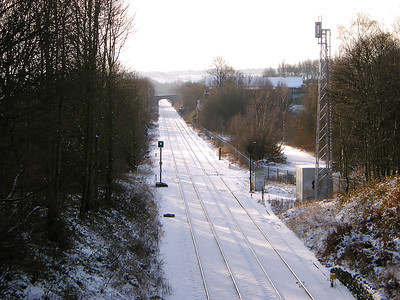 A general view of the site of Wyke & Norwood Green station on the 23rd December 2009