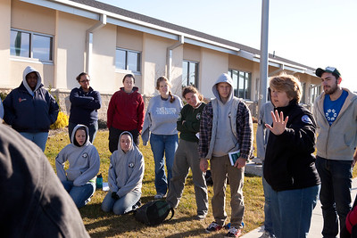 CNCS CEO Wendy Spencer speaks to AmeriCorps members at the VRC in Brigantine, NJ. Corporation for National and Community Service Photo.