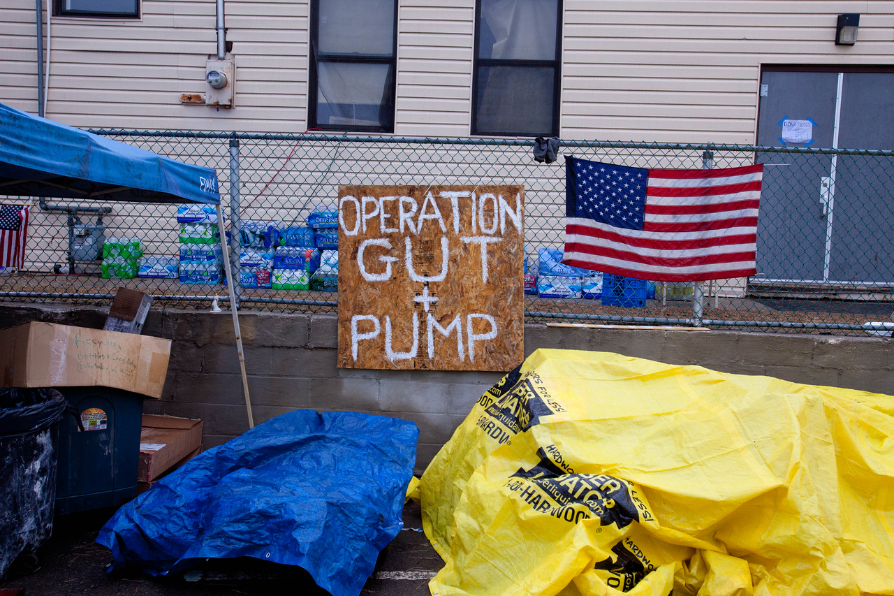 Operation Gut and Pump volunteer reception center. Corporation for National and Community Service Photo.