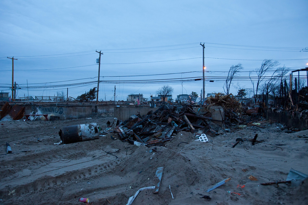 Site of the Breezy Point neighborhood in Queens where 111 homes burned down during Hurricane Sandy. Corporation for National and Community Service Photo.
