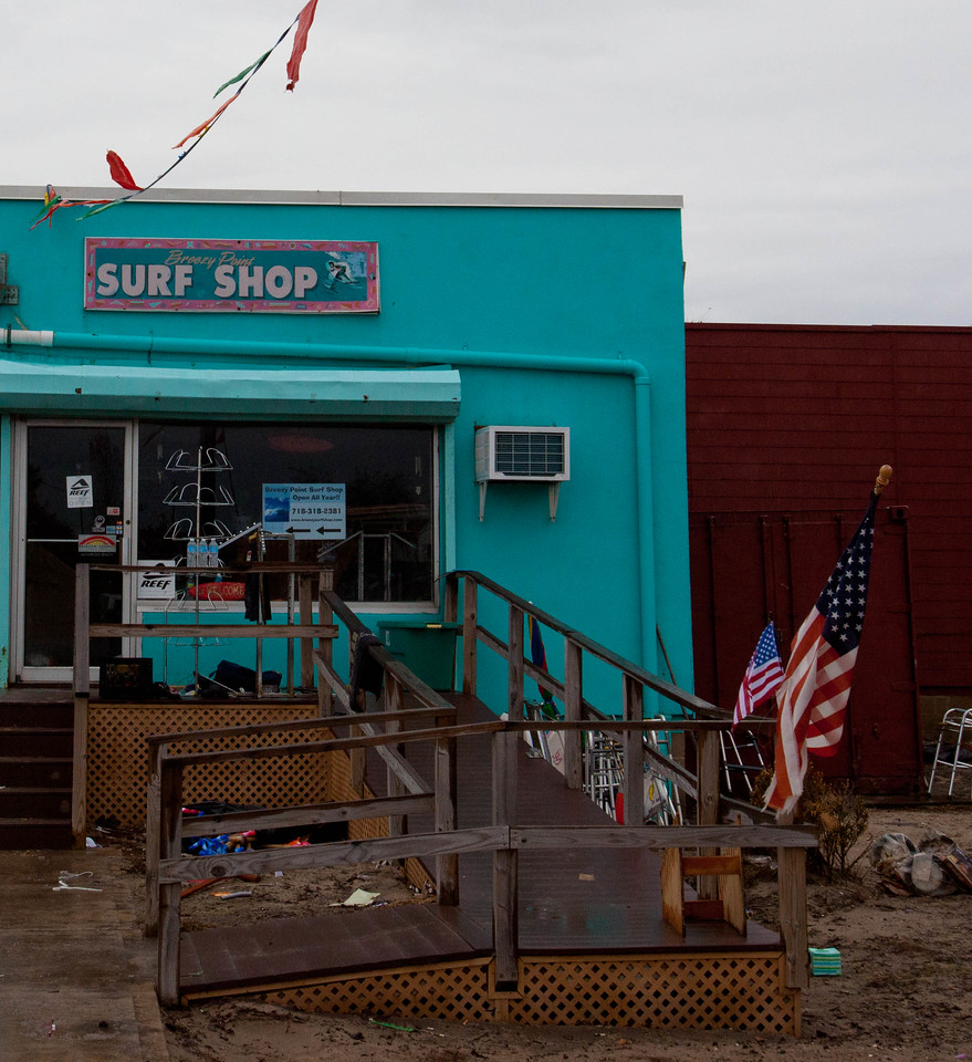 Damaged store in Breezy Point, NY. Corporation for National and Community Service Photo.