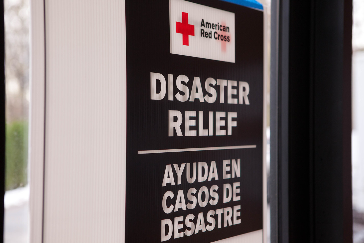 A sign points out the American Red Cross headquarters in North Brunswick Township, NJ. (Corporation for National and Community Service photo)