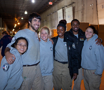 AmeriCorps members working at the supply distribution center in Somerset, NJ in response to Hurricane Sandy. Corporation for National and Community Service Photo.