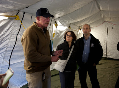 Dennis Kizziah, Executive Director, FEMA's Mississippi Recovery Office gives briefing on disaster response efforts at the Disaster Recovery Center in Far Rockaway, Queens, NY. Corporation for National and Community Service Photo.