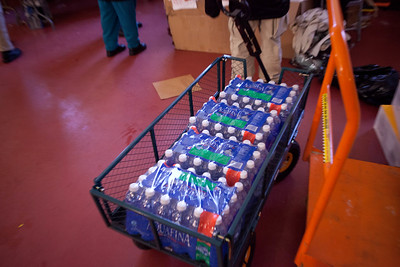 supplies ready for distribution at the Community Church of the Nazarene in Far Rockaway, NY. Corporation for National and Community Service Photo.