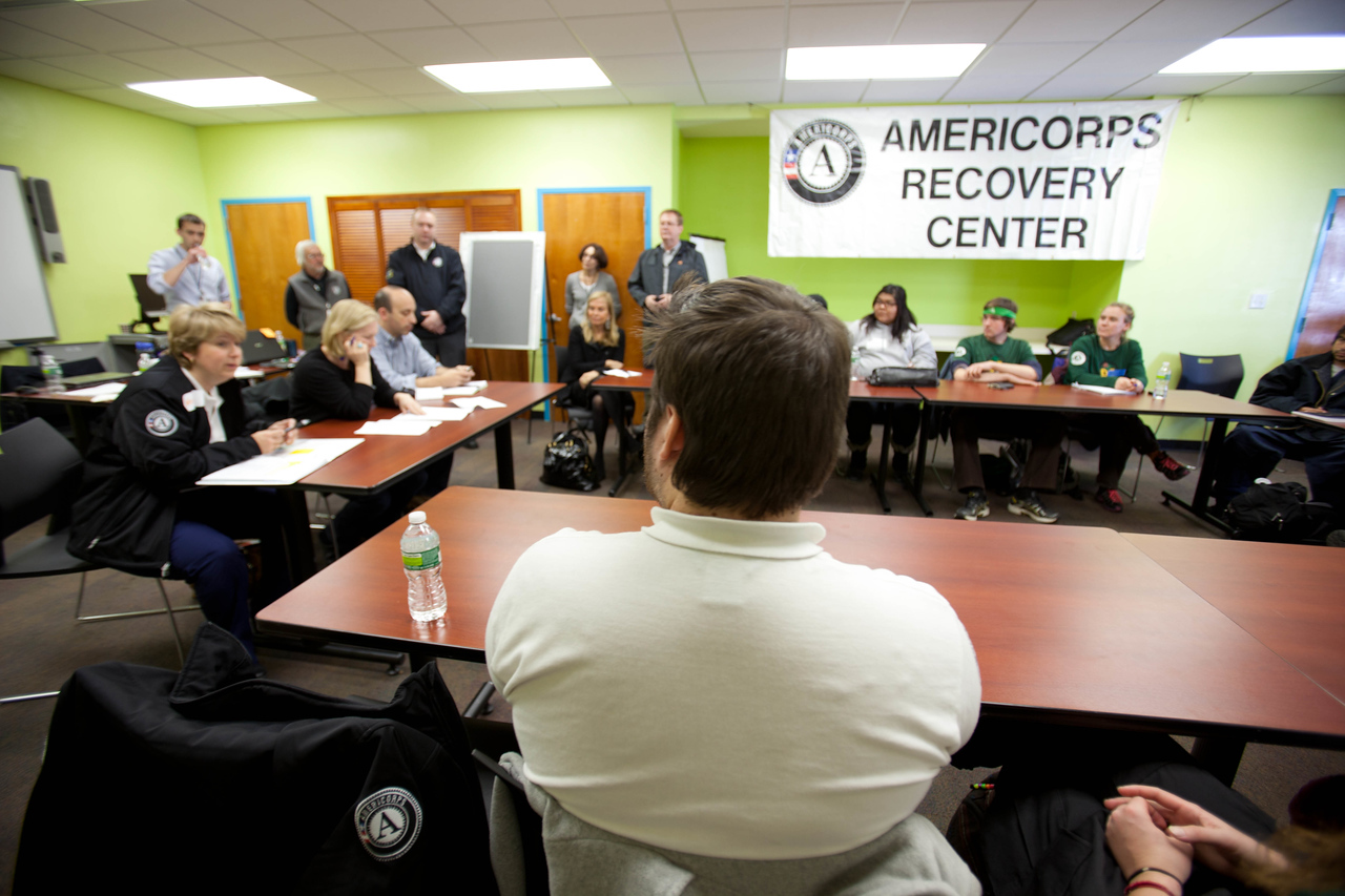 AmeriCorps Recovery Center meeting in Brooklyn, NY. Corporation for National and Community Service Photo.