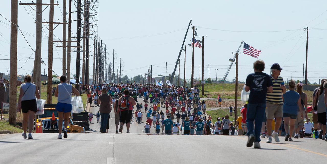Walking route at the Walk of Unity in Joplin, MO. Corporation for National and Community Service Photo