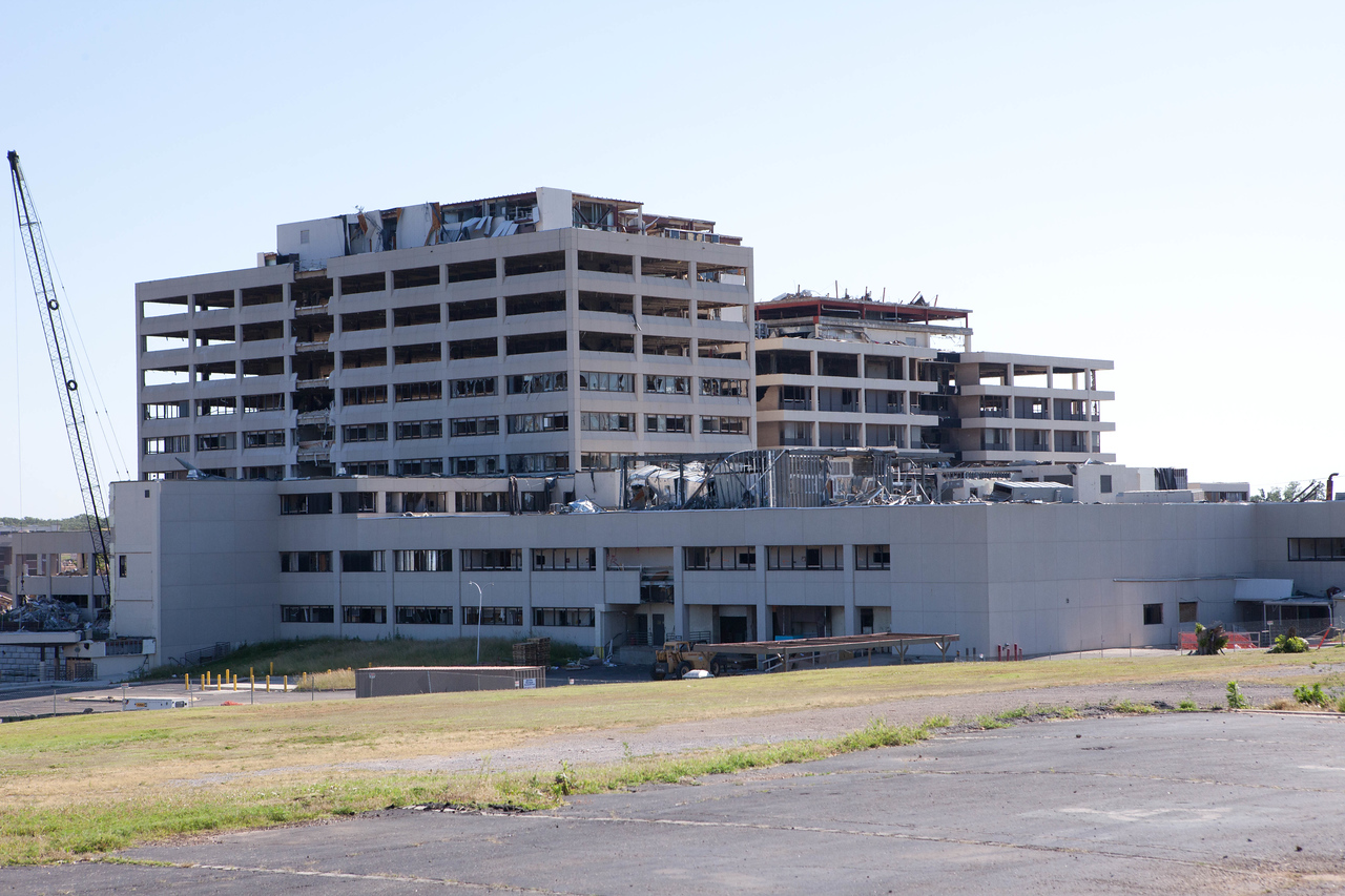 St. John's Regional Medical Center in Joplin, Missouri was destroyed by the tornado. Corporation for National and Community Service Photo