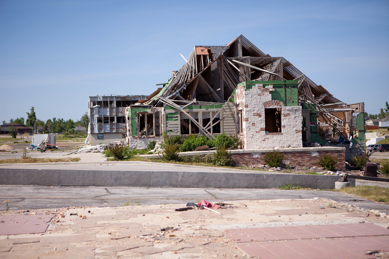 House along Walk of Unity route damaged by the 2011 tornado in Joplin, MO. Corporation for National and Community Service Photo