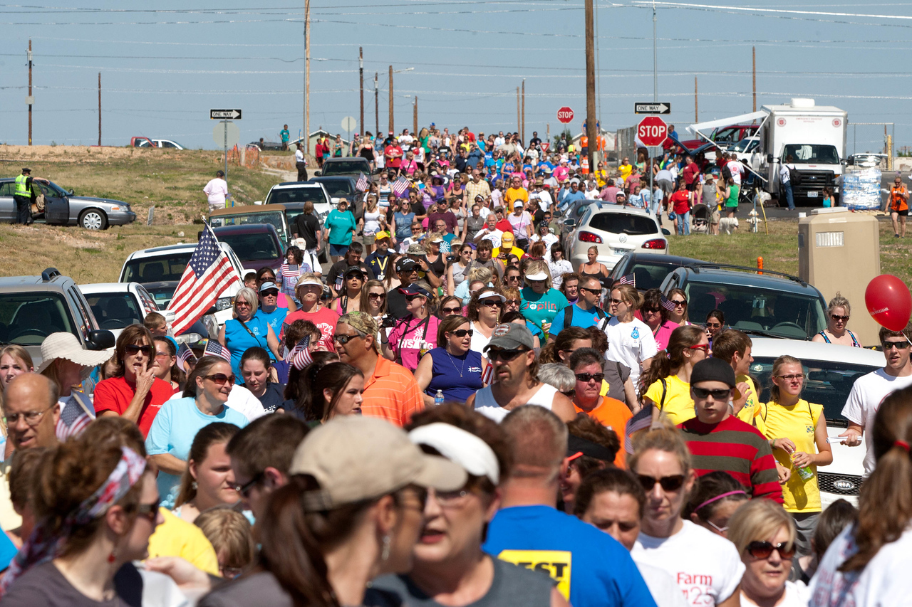 Crowd shot of the May 22 Walk of Unity in Joplin, MO, marking the one-year anniversary of the 2011 tornado. Corporation for National and Community Service Photo