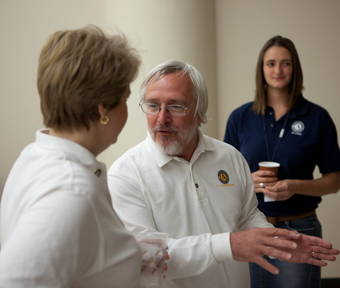 (L-R) Corporation for National and Community Service CEO, Wendy Spencer and Executive Director at AmeriCorps St. Louis, Bruce Bailey. Joplin, MO. Corporation for National and Community Service Photo