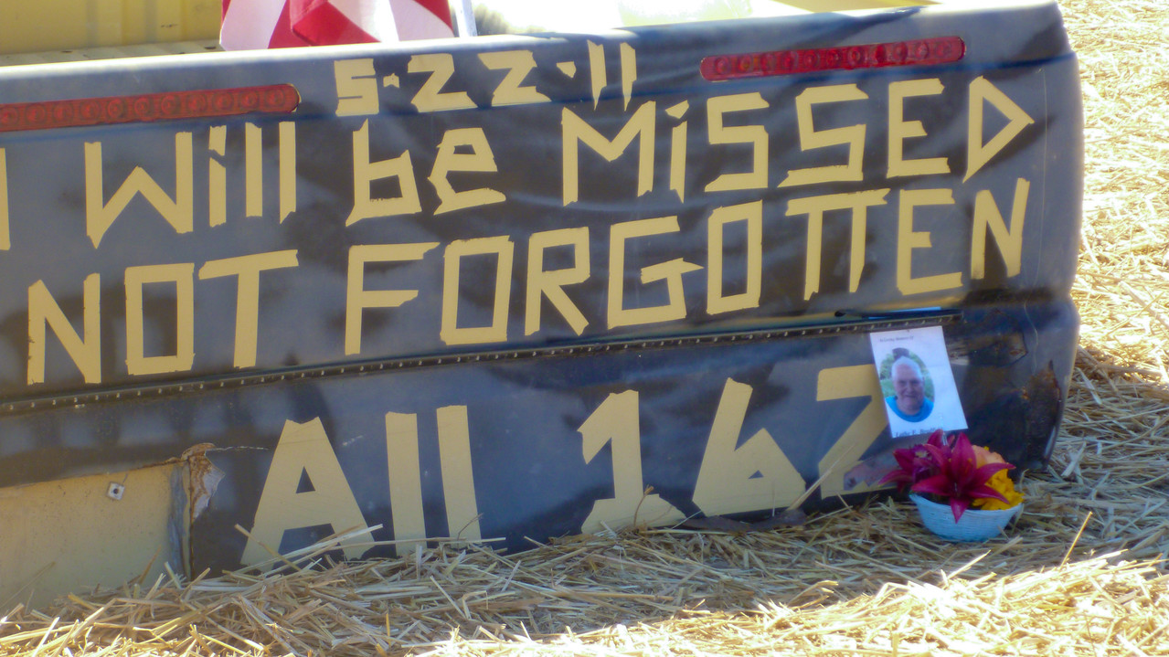 Sign commemorating victims of the 2011 Joplin tornado in Joplin, MO. Corporation for National and Community Service Photo.