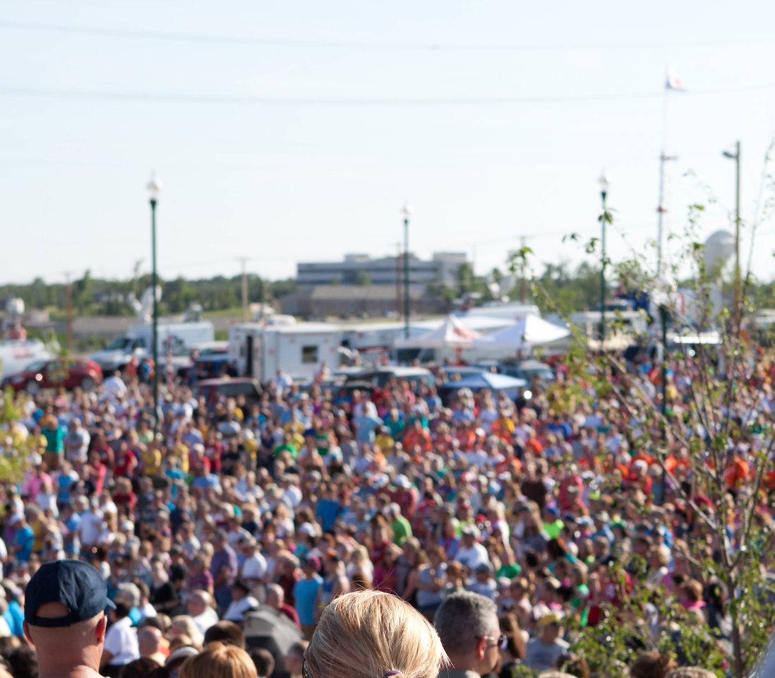 Citizens listen to speakers at Cunningham Park at the conclusion of the Walk of Unity in Joplin, MO. Corporation for National and Community Service Photo