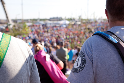 A view of the crowd during the May 22 Walk of Unity in Joplin, MO, marking the one-year anniversary of the 2011 tornado. Corporation for National and Community Service Photo