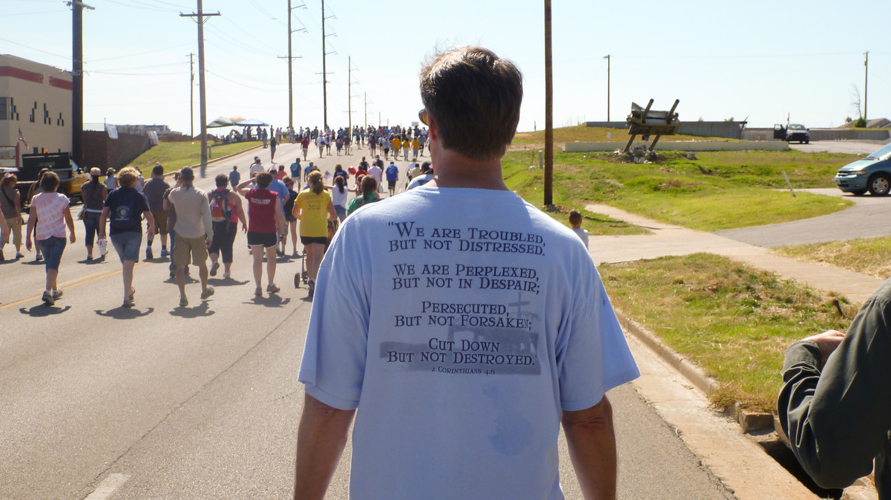 Participant in Walk of Unity in Joplin, MO. Corporation for National and Community Service Photo.