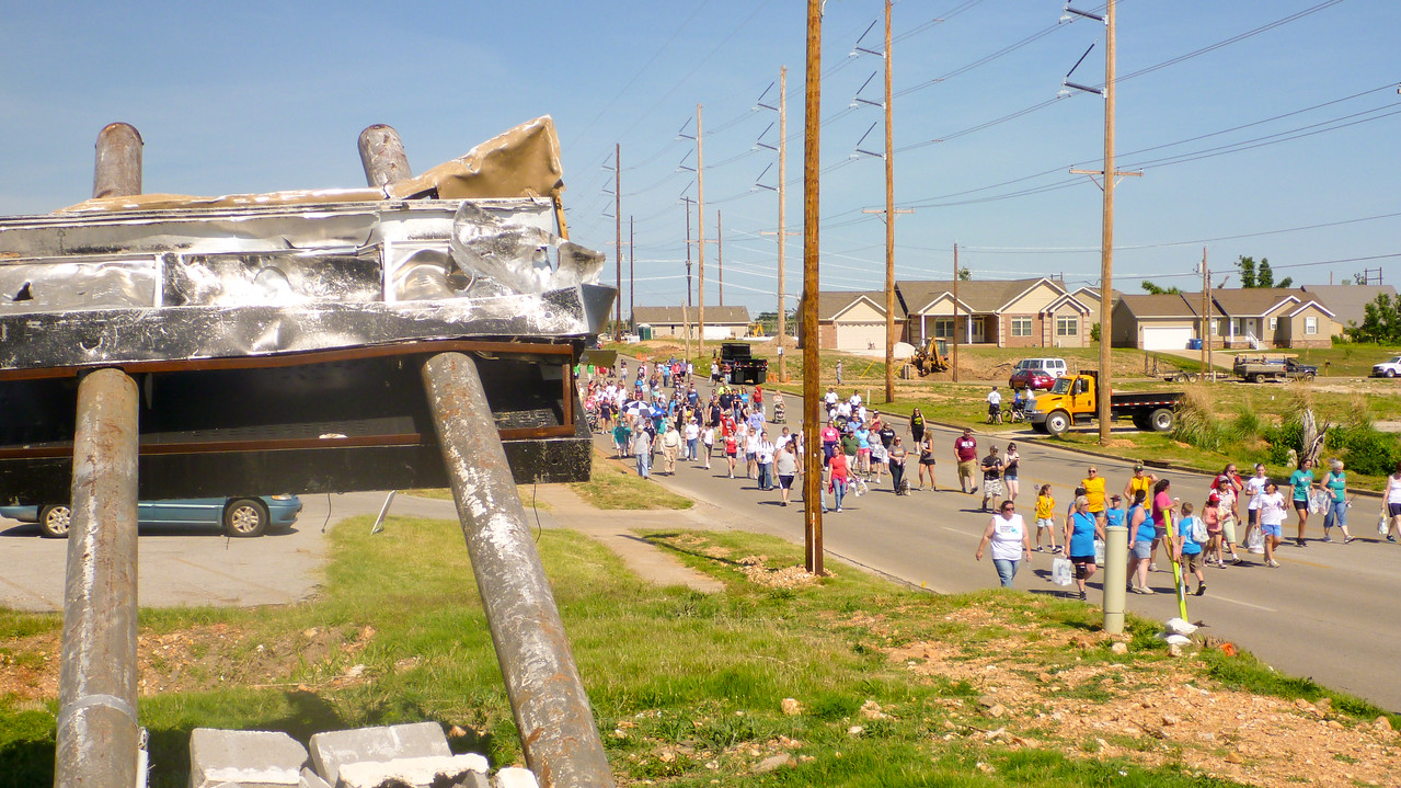 Parade route of Walk of Unity in Joplin, MO. Corporation for National and Community Service Photo.