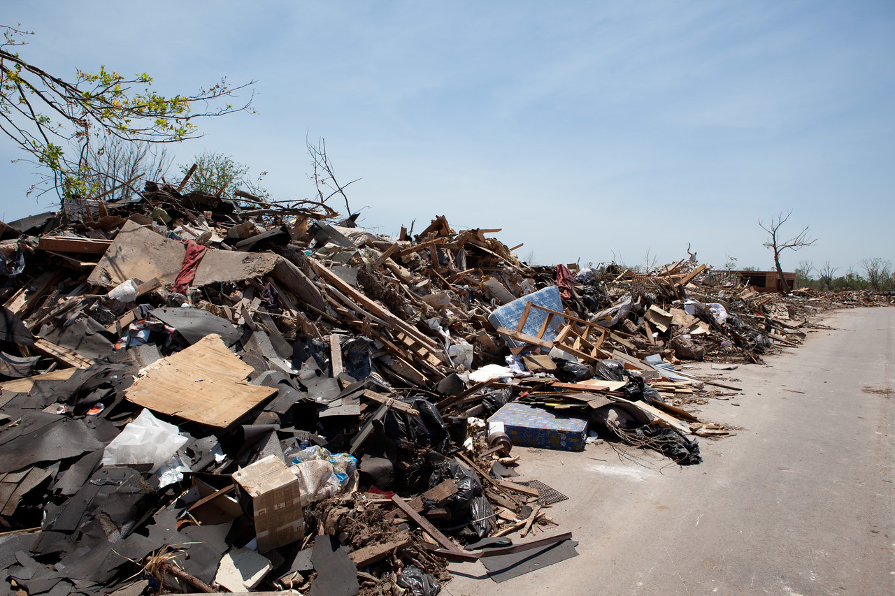 Moore, Oklahoma tornado damage.Corporation for National and Community Service Photo.