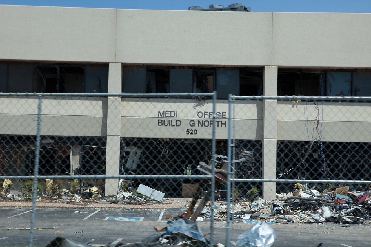 Moore Medical Center damaged by tornado. in Corporation for National and Community Service Photo.