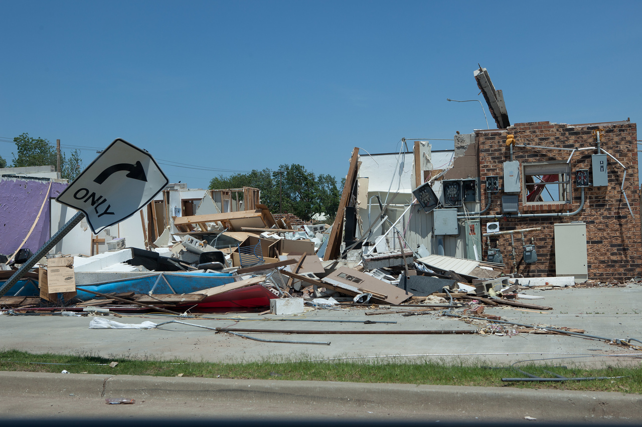 Moore, Oklahoma tornado damage. Corporation for National and Community Service Photo.