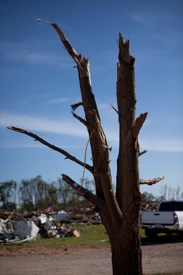 Shawnee, Oklahoma tornado damage.Corporation for National and Community Service Photo.
