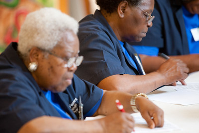 RSVP Senior Corps at call center - Tuscaloosa, AL 2011. Corporation for National and Community Service Photo.