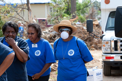 RSVP Senior Corps on ground removing debris - Tuscaloosa, AL 2011. Corporation for National and Community Service Photo.