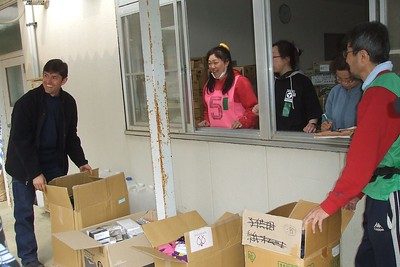 Kent unpacking boxes