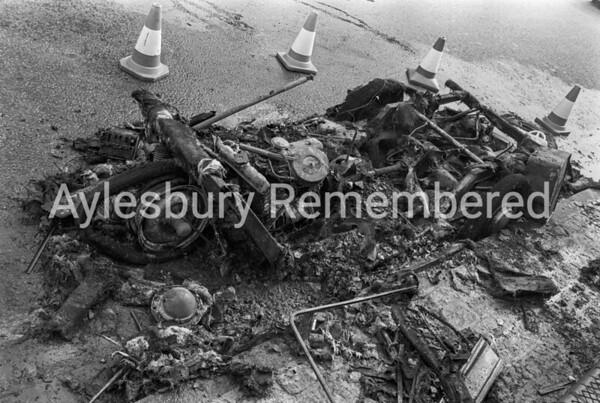 Car fire in Walton Road, Sep 30th 1976