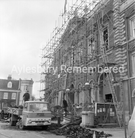 County Hall restoration, Mar 1970