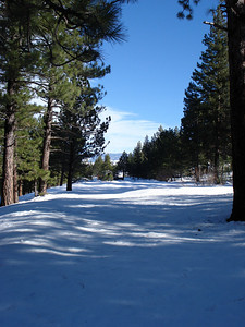 Truckee Disc Golf Course 12-07-2010 Sixth Tee