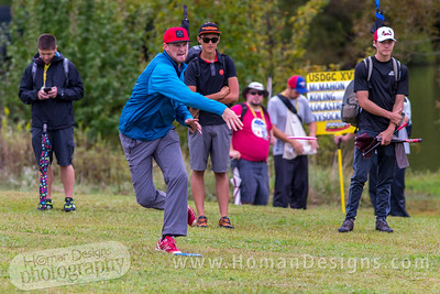 Jeremy Koling throws his shot on hole  no. 5 during round 3 of the 2016 USDGC.