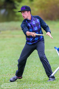 Paul Ulibari throws a shot on hole  no. 5 during round 3 of the 2016 USDGC.