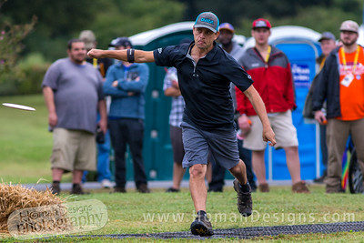 Steve Brinster tees off on on hole  no. 7 during round 3 of the 2016 USDGC.