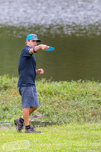 Steve Brinster throws a fairway shot on hole  no. 5 during round 3 of the 2016 USDGC.