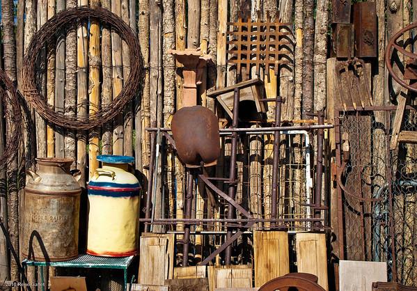 <center><h2>'Wall of Discards'</h2> Jackalope Market Santa Fe, NM</center>
