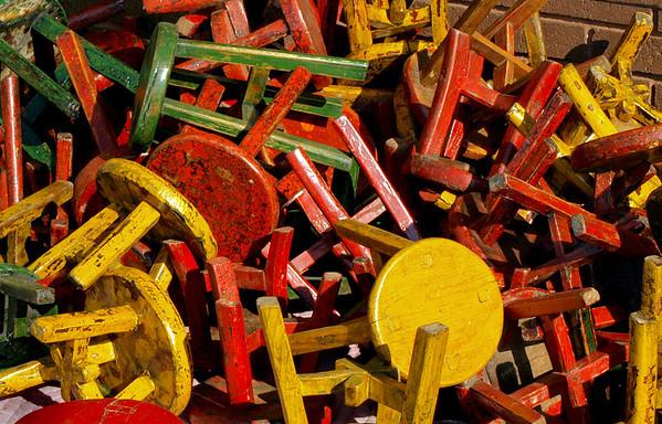 <center><h2>'Stools of Many Colors'</h2> Scott's Antiques, Atlanta, GA</center>