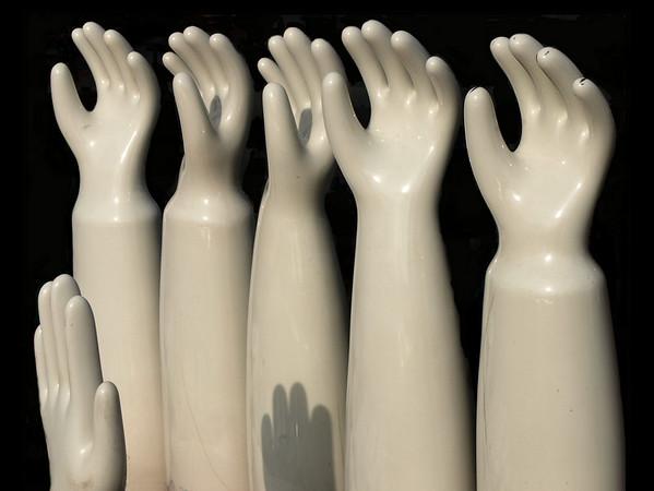 <center><h2>'Swearing In'</h2>(antique glove forms)   Scott's Antiques, Atlanta, GA</center>