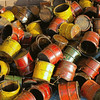 <center><h2>'Wooden Buckets of Color'</h2> Scott's Antiques, Atlanta, GA</center>