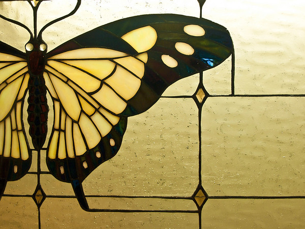 """<center><h2>'Butterfly on the Window'</h2> Oueen of Hearts Antiques, Milton, GA -- June 2010   12""""x16"""" image on 13""""x19"""" luster paper</center>"""