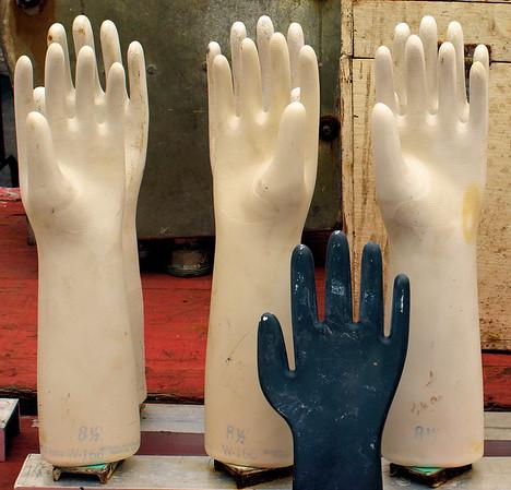 <center><h2>'Intergration'</h2>(antique glove forms)  Scott's Antiques, Atlanta, GA</center>